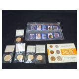 5 REPO SPANISH COINS / ISRAEL COINS / STAMPS