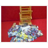 PATCHES, CRAYONS, NAME TAGS, PICTURE HOLDER