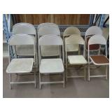 10 METAL FOLDING CHAIRS 3 STYLES