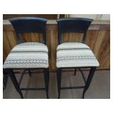 """2 BLACK BAR STOOLS 29"""" SEAT HEIGHT 40"""" BACK HEIGHT"""