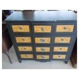"""6 DRAWER CHEST OF DRAWERS 42"""" T 46"""" W 19"""" D"""