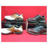 2 PAIRS GOLF SHOES 12 WIDE
