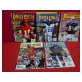 5 PRICE GUIDE SPORTS CARD BOOKS W / UNCUT CARDS
