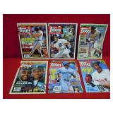 6 TOPPS MAGS COMES WITH UNCUT CARDS INSIDE