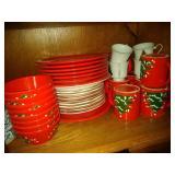 German Waechtersbach dishes, Snowman Plates,