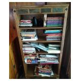 wood bookshelf - contents NOT included
