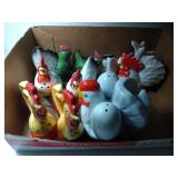 6 pairs of Salt & Pepper Shakers - Chickens