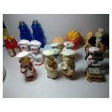 9 pairs of Salt & Pepper Shakers - Advertisting &