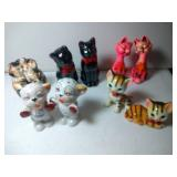 5 pairs of Salt & Pepper Shakers - Cats, tallest