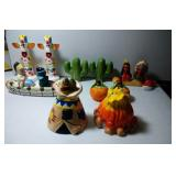 6 pairs of Salt & Pepper Shakers - Native, tallest