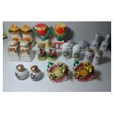 10 pairs of Salt & Pepper Shakers - Floral