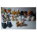 13 pairs of Salt & Pepper Shakers - Animals