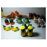 9 pairs of Salt & Pepper Shakers - Tropical and