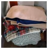 Breakfast tray and 3 blankets - tray is 21 inches