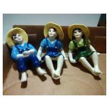 3 Ceramic Arts Studio pieces - 5 inch sitters