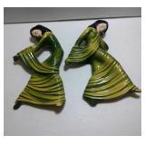 2 Ceramic Arts Studio pieces - Shadow Dancer A & B