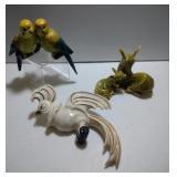 3 Ceramic Arts Studio pieces & salt and pepper