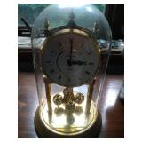 Bulova oval dome clock - stands 9 inches