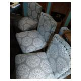3 counter top height chairs - 25 inch at seat &