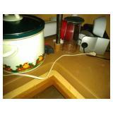 bottom of corner cupboard contents - Food Saver,