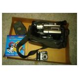 Sony NP-F330 camcorder, 2 digital cameras and
