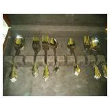 Oneida Craft flatware in wood storage box