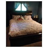 King size sleigh style bed, Sleep Number mattress,