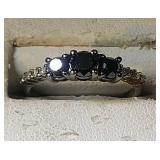 Sterling Silver Ring, 1.9 grams, 3 Moissanite
