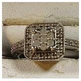 10k wg Ring with Diamonds, 2.5 grams, size 7