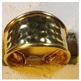 14k yg Adjustable ring, 2.8 grams, size 8.25