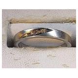 14k wg Diamond ring, 3.0 grams, size 6.5