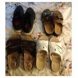 4 pair Ladies shoes - 2 sandals, Muk Luks and