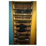 shoe rack for back of door and 8 pairs of Ladies
