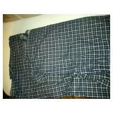 box of flanel full size flat sheet, comforter & 2