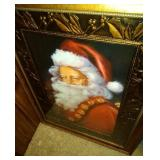 large framed Santa picture (26 inch by 35 inch),