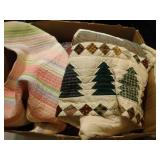 blankets and quilts including a WI Badger