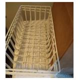 3 refrigerator door bins and 3 freezer baskets