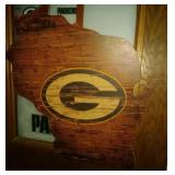 wood carved WI Green Bay Packers decor and door