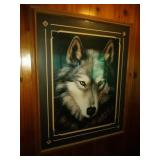 large framed Wolf print by Dave Merrick