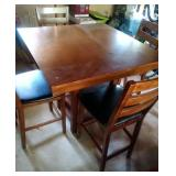 tall dinette table with 4 chairs,  Whalen table &