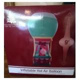 9 foot Infatable Santa Hot Air Balloon