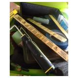 large tote of painting supplies