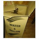 5 gallon glass water bottle in box