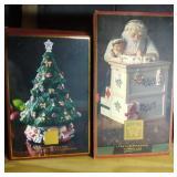 Lenox Santa cookie jar and Lenox Holiday Tree