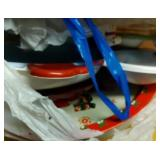 bag of Holiday serving platters or cookie plates