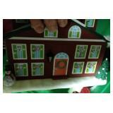 4 totes of Christmas decor - Disney ornaments,