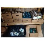 huge lot of Ball jars, mason jars, and canning