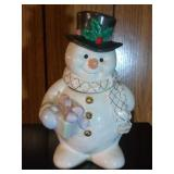 Snowman Cookie Jar by Lenox - 12 inches