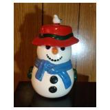 Snowman (red hat) Cookie Jar by Pfaltzgraff - 14