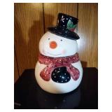 Snowman (black hat) Cookie Jar by Living Quarters